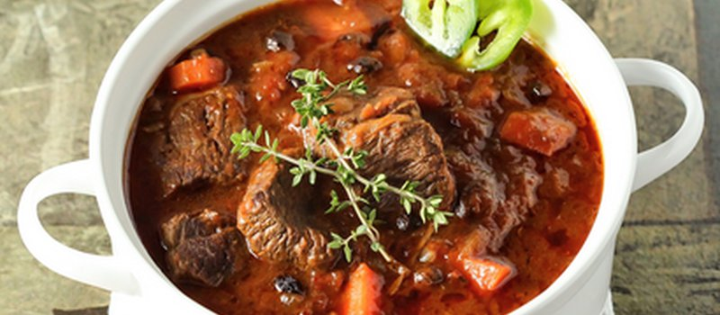 Beef Stew with Tomatoes and Peppers