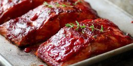 Paleo Raspberry Balsamic Glazed Salmon