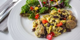 Turkey Sausage Egg Scramble