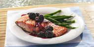 Grilled Salmon & Fresh Blackberries w/ Brain Rice
