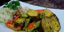 Steamed Vegetable Medley with Miso-Tahini Sauce