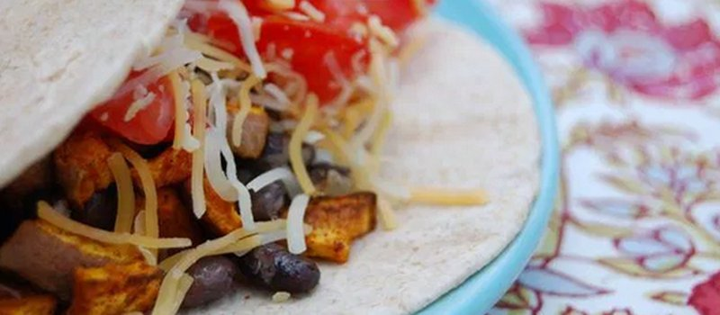 Curried Sweet Potato & Black Bean Tacos