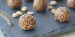 Gluten Free Energy Balls with Peanuts & Cherries