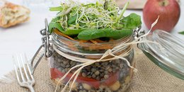 High Protein Salad in a Jar