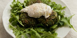 Broccoli Fritters with Pesto