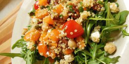 Quinoa Salad With Chickpeas & Feta