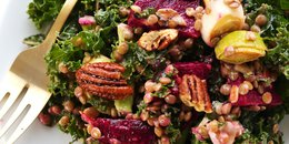 Kale, Lentil & Roasted Beet Salad