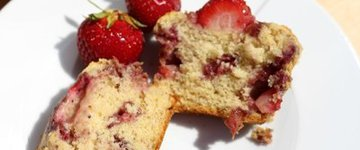Sinful Strawberry Muffins