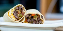 Make Ahead Black Bean Fajita Burritos