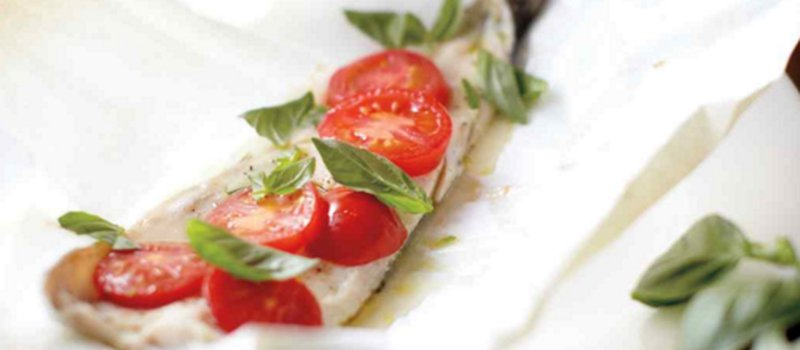 Trout, Tomatoes & Basil in Parchment