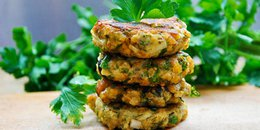 Lentil & Eggplant Patties with Olives and Herbs