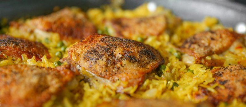Saffron Rice with Chicken
