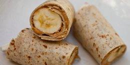 Almond Butter Oat Strawberry Banana Wrap