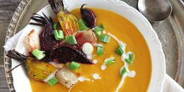 Creamy Butternut Squash, Carrot and Ginger Soup