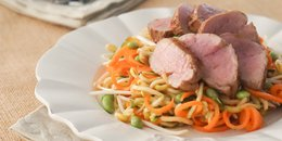 Zucchini Noodles Stir Fry with Pork Tenderloin