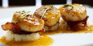 Bacon-Ginger Scallops with Cauli Rice