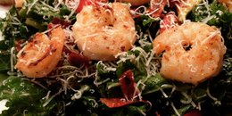Kale Salad with Grilled Shrimp