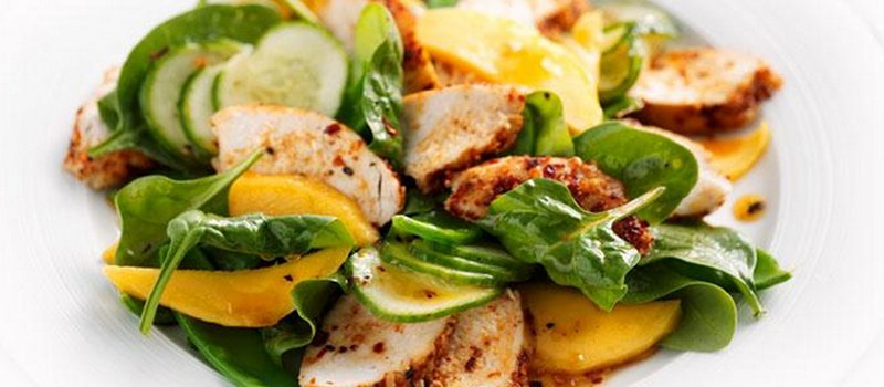 Chicken and Mango Salad with Chutney Dressing