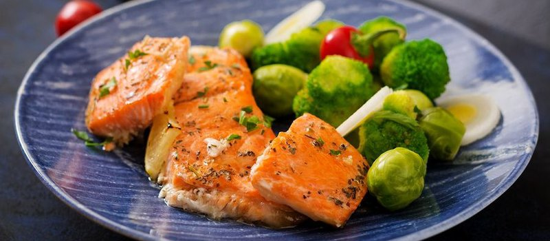 Organic Salmon and Roasted Brussels Sprouts