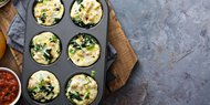 Muffin Tin Egg, Spinach and Mushrooms