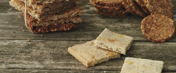 Grain-Free Lemon Peppered Almond Crackers