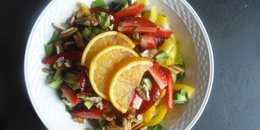 Strawberry Salad with Orange Balsamic Dressing