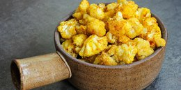 Roasted Turmeric Cauliflower on Squash Mash