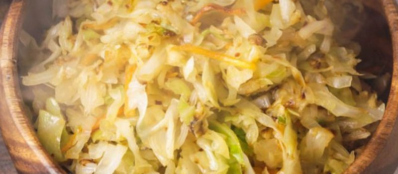 Cabbage Saute with Coconut Aminos