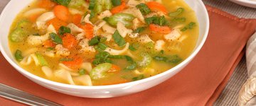 "Vegetarian ""Chicken"" Noodle Soup"