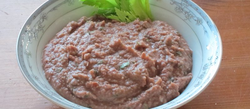 Mashed Beans with Walnuts and Cilantro