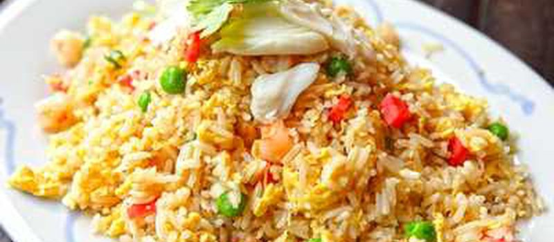 Fried Rice with Peas, Beans and Chinese Cabbage