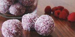 Raspberry Coconut Paleo Bliss Balls