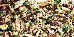 Smoked Trout and Roasted Fennel Cauliflower Salad