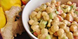10-Minute Creamy Chickpea Salad