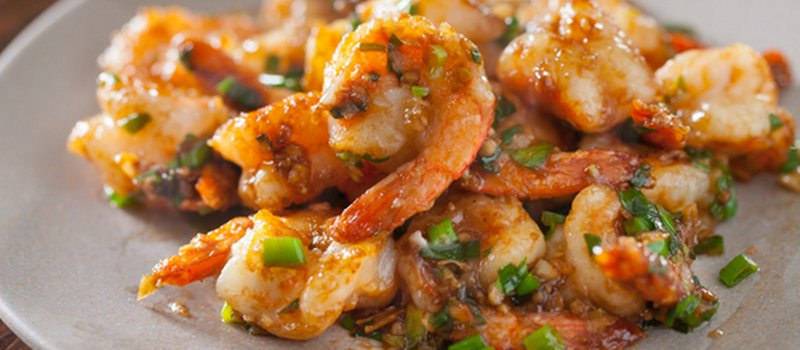 Chili Shrimp with Garlic