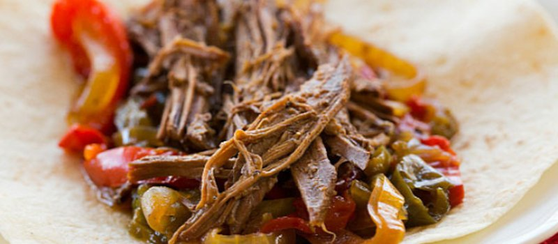 Freezer to Slow Cooker Beef Fajitas