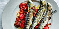 Grilled Sardines with Tomato-Fennel Marinade