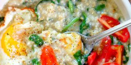 Savory Spinach Steel Cut Oatmeal