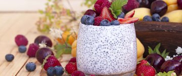 Coconut & Blueberry Chia Seed Pudding in a Jar