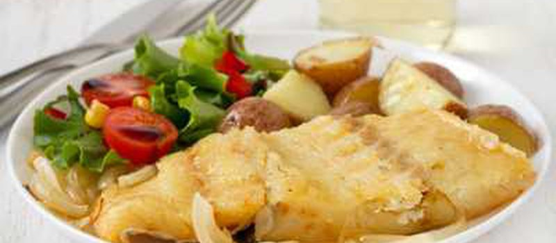 Baked Codfish  with Vegetables