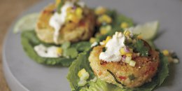 Lemon Basil Millet Burgers with Mango Salsa