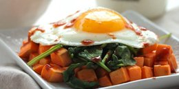 Sweet Potato Spinach Breakfast