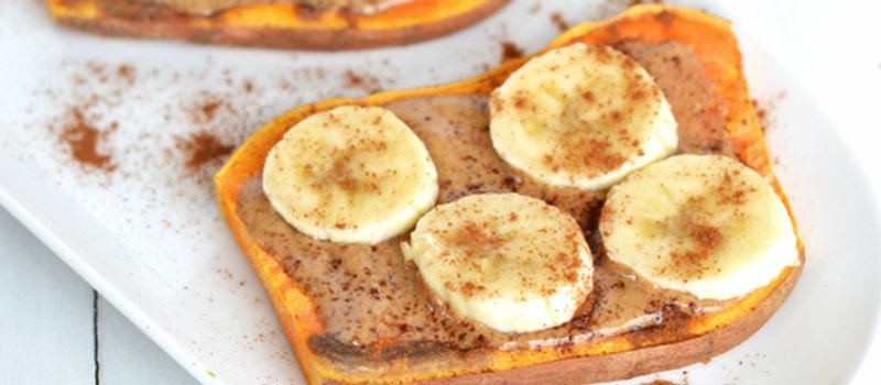 Sweet Potato Toast with Almond Butter & Banana