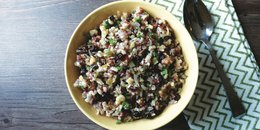 Wild Rice with Cranberries, Walnuts & Parsley