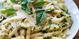 Penne with Zucchini Pistou