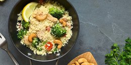 Curried Millet with Carrots, Broccoli & Cashews