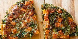 Kale, Sweet Potato & Green Onion Frittata