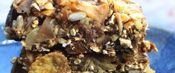 Healthy Apple Spice Nuts Bars
