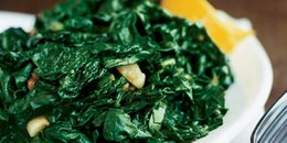 Sautéed Spinach with Lemon and Garlic