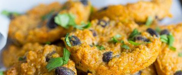 Quinoa Bites with Sweet Potato & Black Beans